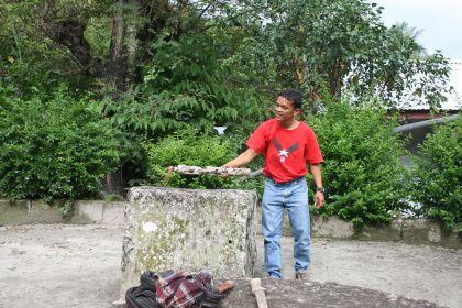 Stone chair Lake Toba